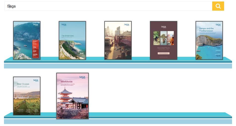 Saga Cruise Brochures on our Brochure Racks