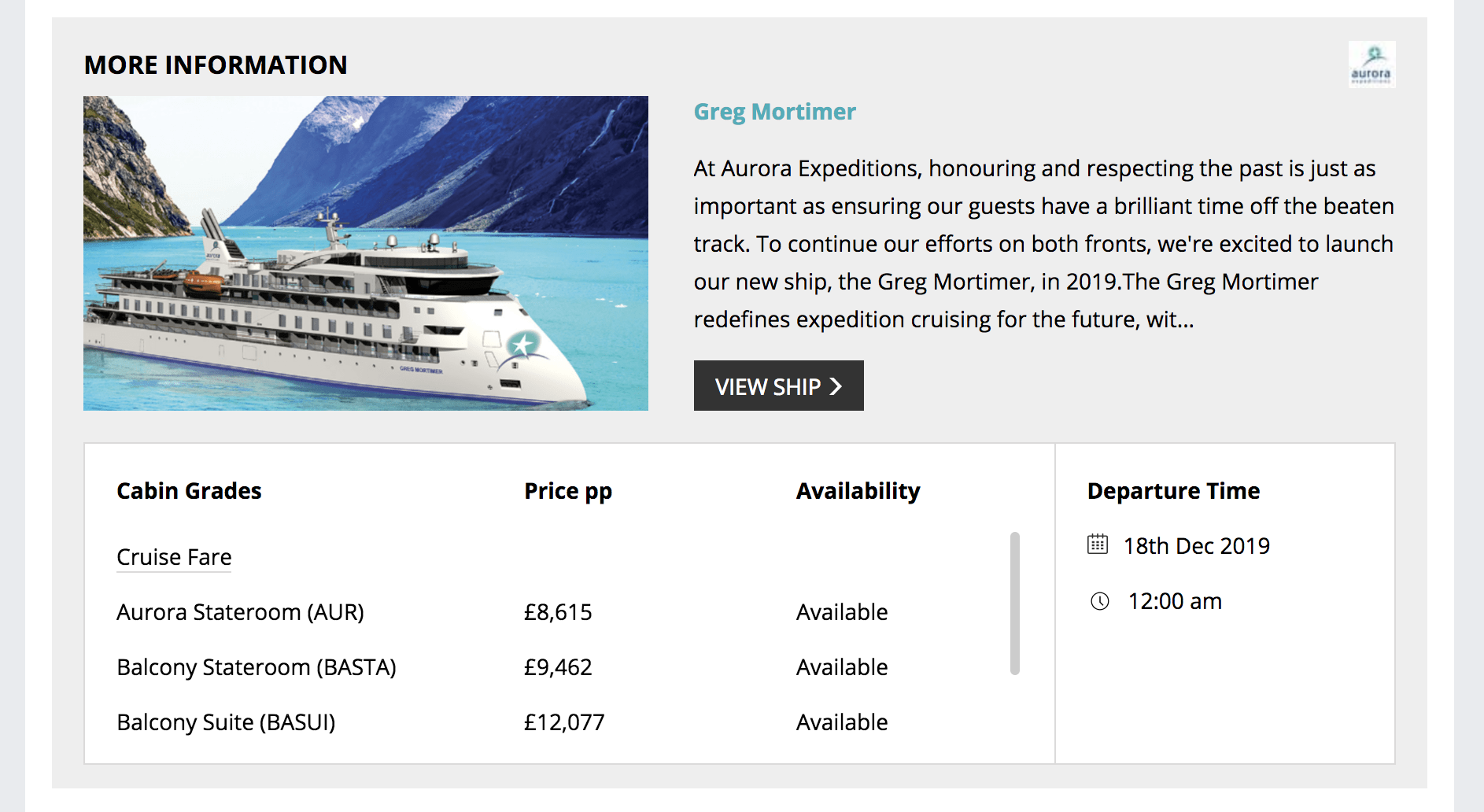 Aurora Expeditions Cruises in the Cruise Search