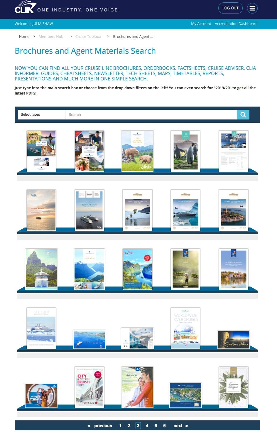 CLIA Brochures & Agent Materials - Widgety Brochure Rack