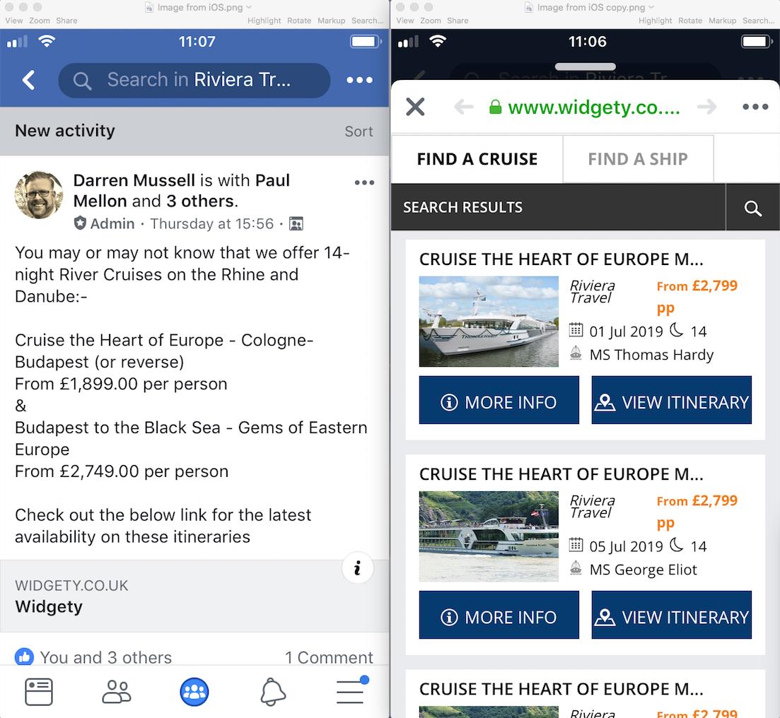 Riviera Travel Facebook Group