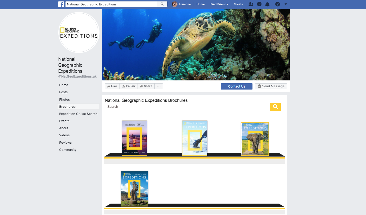 National Geographic Expeditions Brochure Rack on Facebook