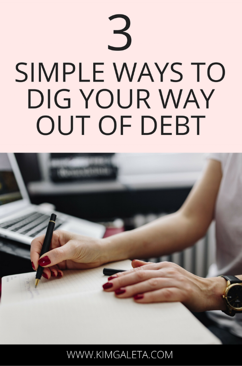 Ready to start digging your way out of debt? These tips will help you get started on your journey to debt freedom!