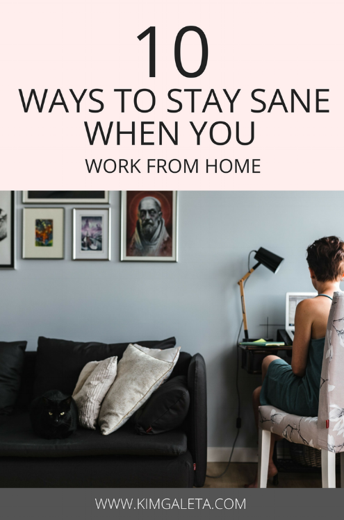 Totally needed these work from home productivity tips. It is possible to be productive when you work from home.