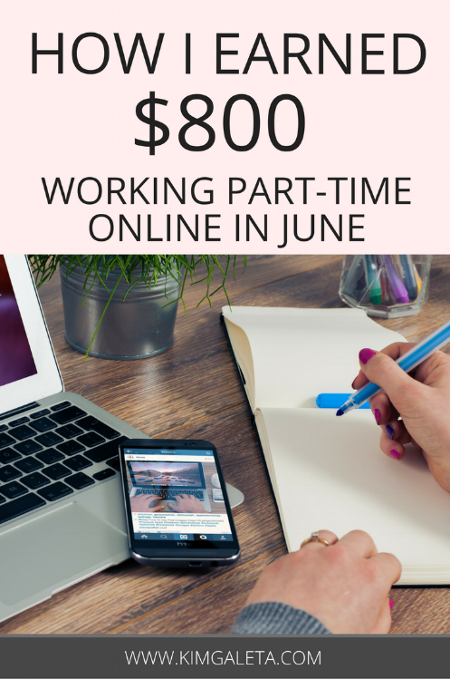 Learn how to earn money online working part-time as a blogger and freelance writer.