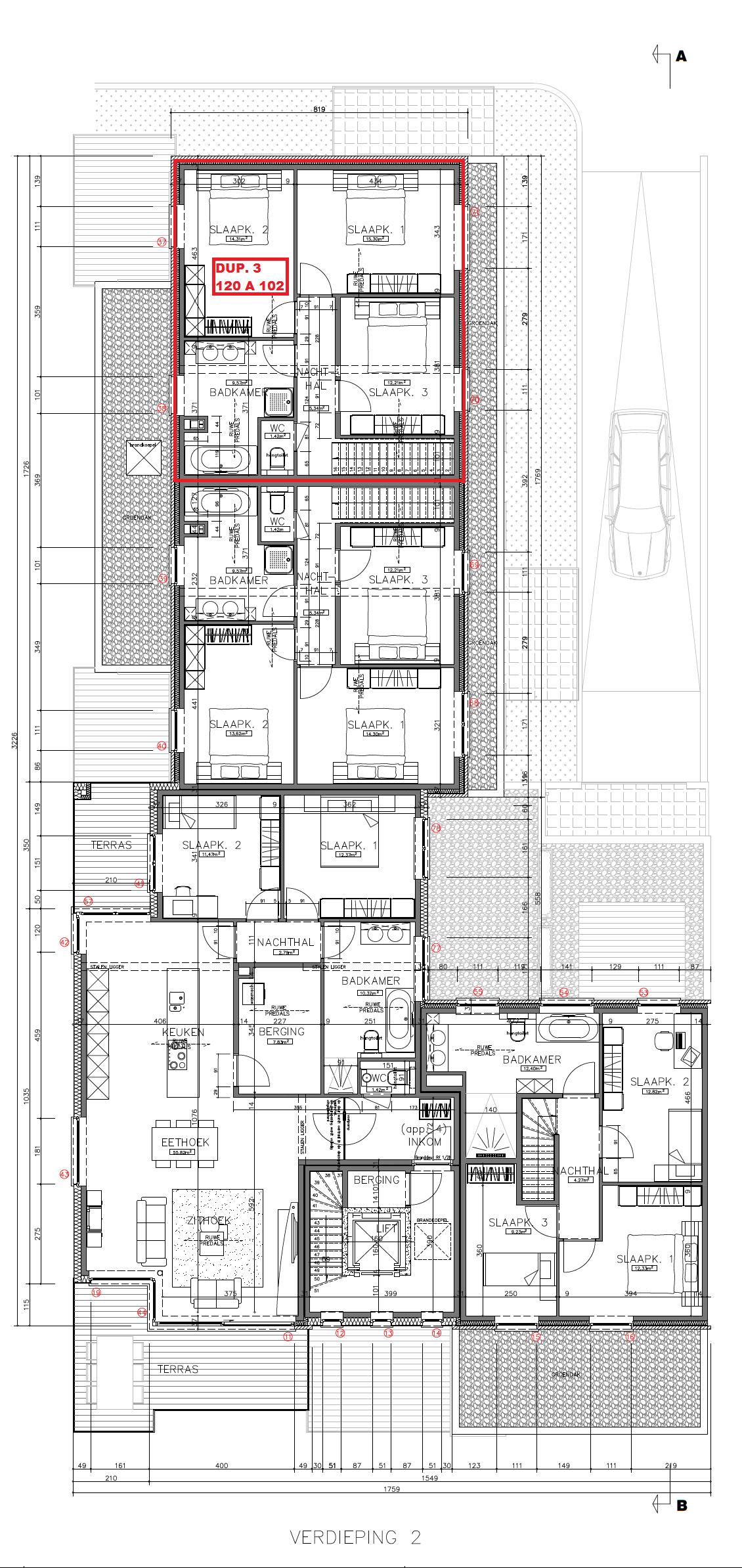 Duplex 3 120 A 102 Grondplan 2e verdieping.png