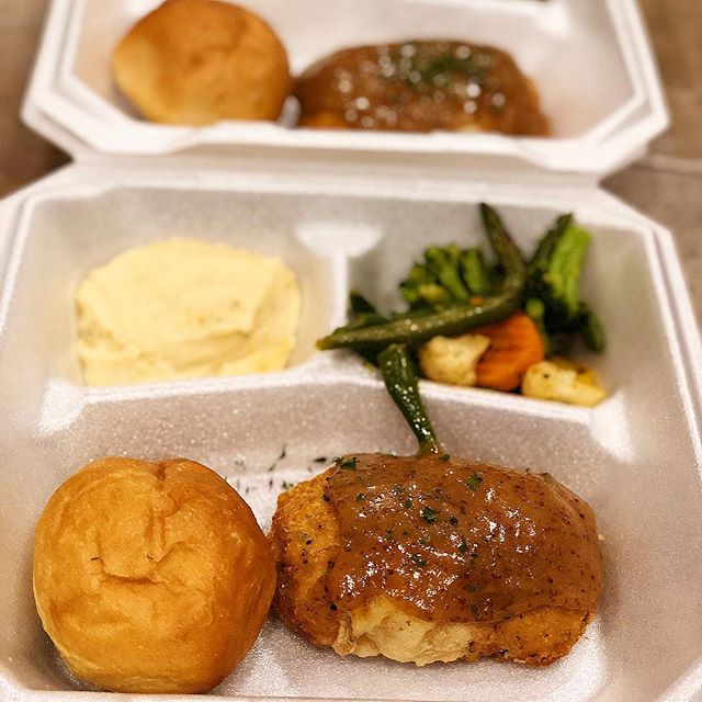Need lunch?? Want to be the favorite employee in the office?? GAF has you covered! Order your boxed lunches for the office or Company luncheon today with us! *The lunch featured in this picture was mash potatoes, mixed veggies, chicken Cordon Bleu with our homemade honey glazed sauce over the top and a roll.*