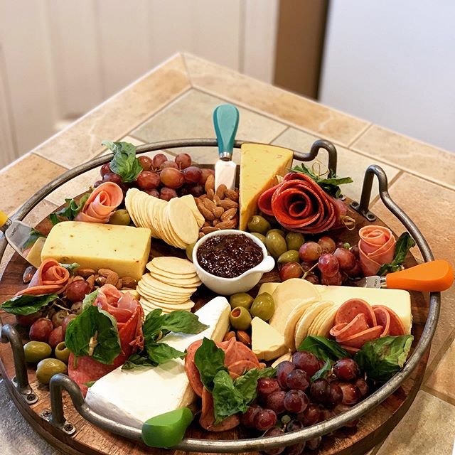 When your Mom caters and cant just make a cheese board ! 😉