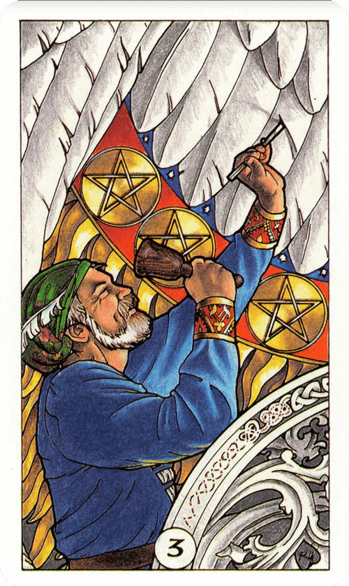 Three of Pentacles Tarot Card Meaning