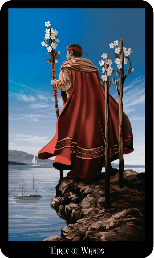 Three of Wands Tarot Card Meaning