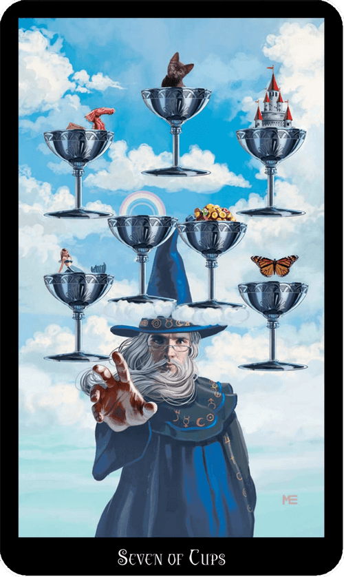 Seven of Cups Tarot Card Meaning