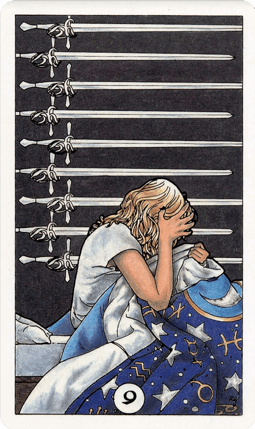 Nine of Swords Tarot Card Meaning
