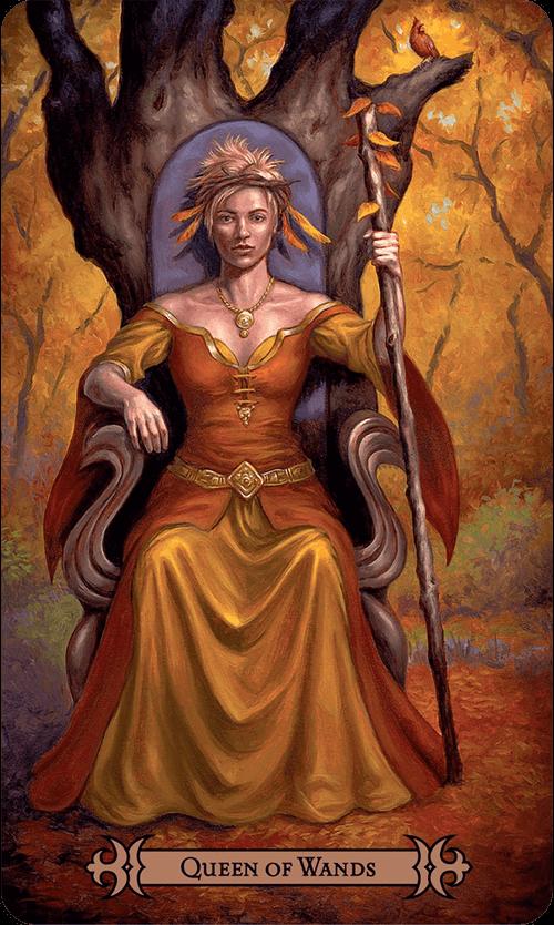 Queen of Wands Tarot Card Meaning