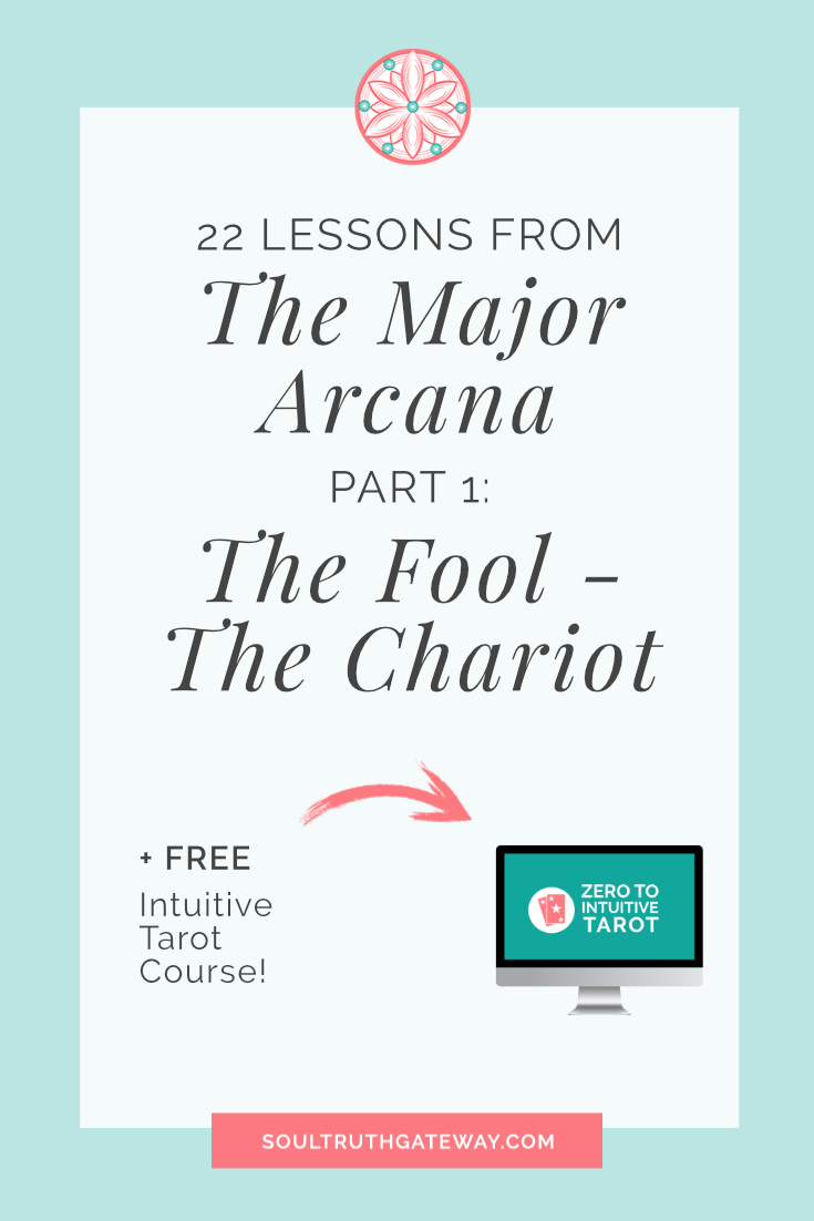 22 Lessons from the Major Arcana Part 1: The Fool - The Chariot and Major Arcana Tarot Cheatsheet!