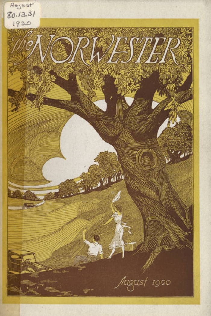 Image from the August 1920  Norwester  magazine cover. (Courtesy of the UA Archives.)