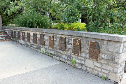 Wall of Honor at the entrance to the Municipal Services Center, 3600 Tremont Road.