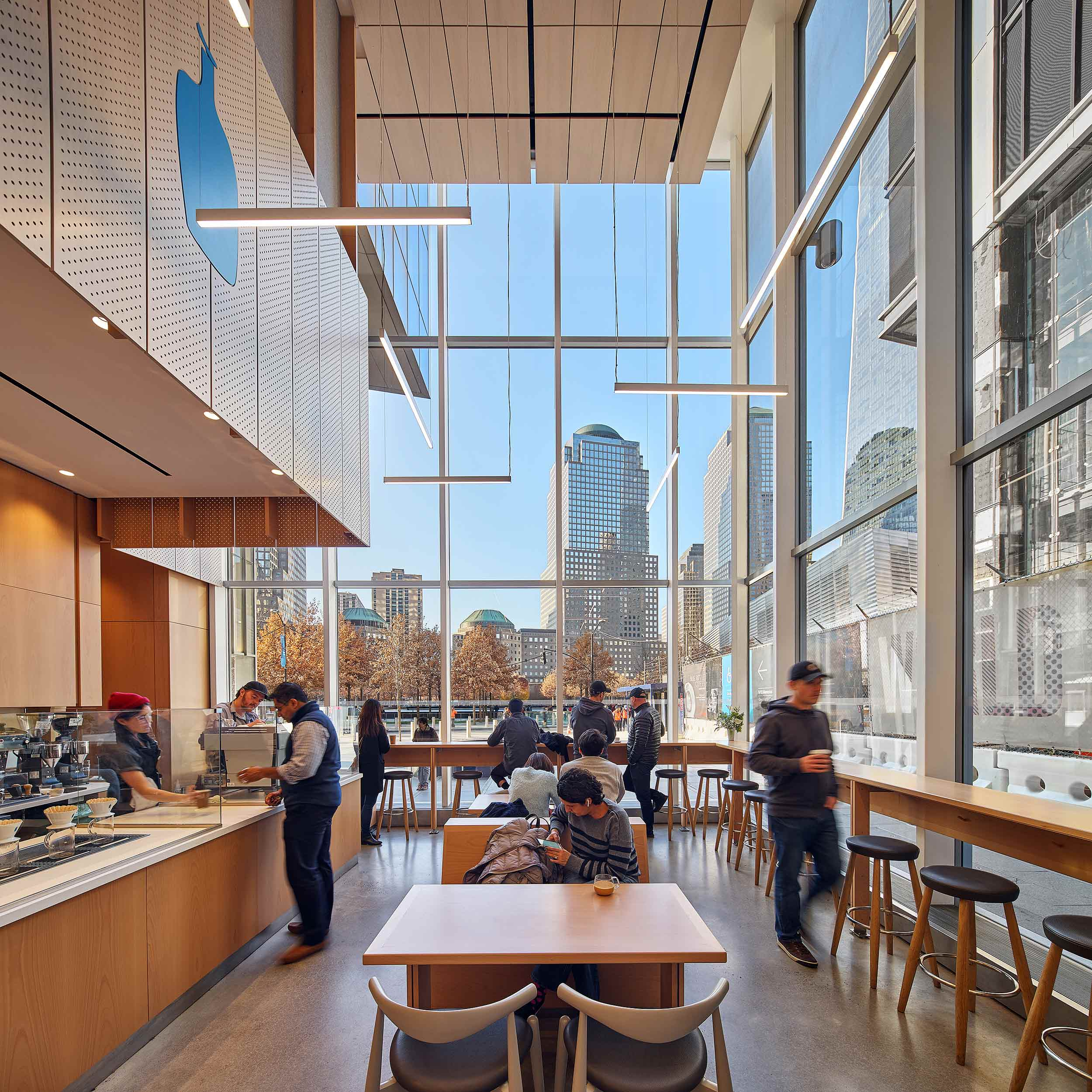 Blue Bottle Coffee, World Trade Center Bohlin Cywinski Jackson New York, NY