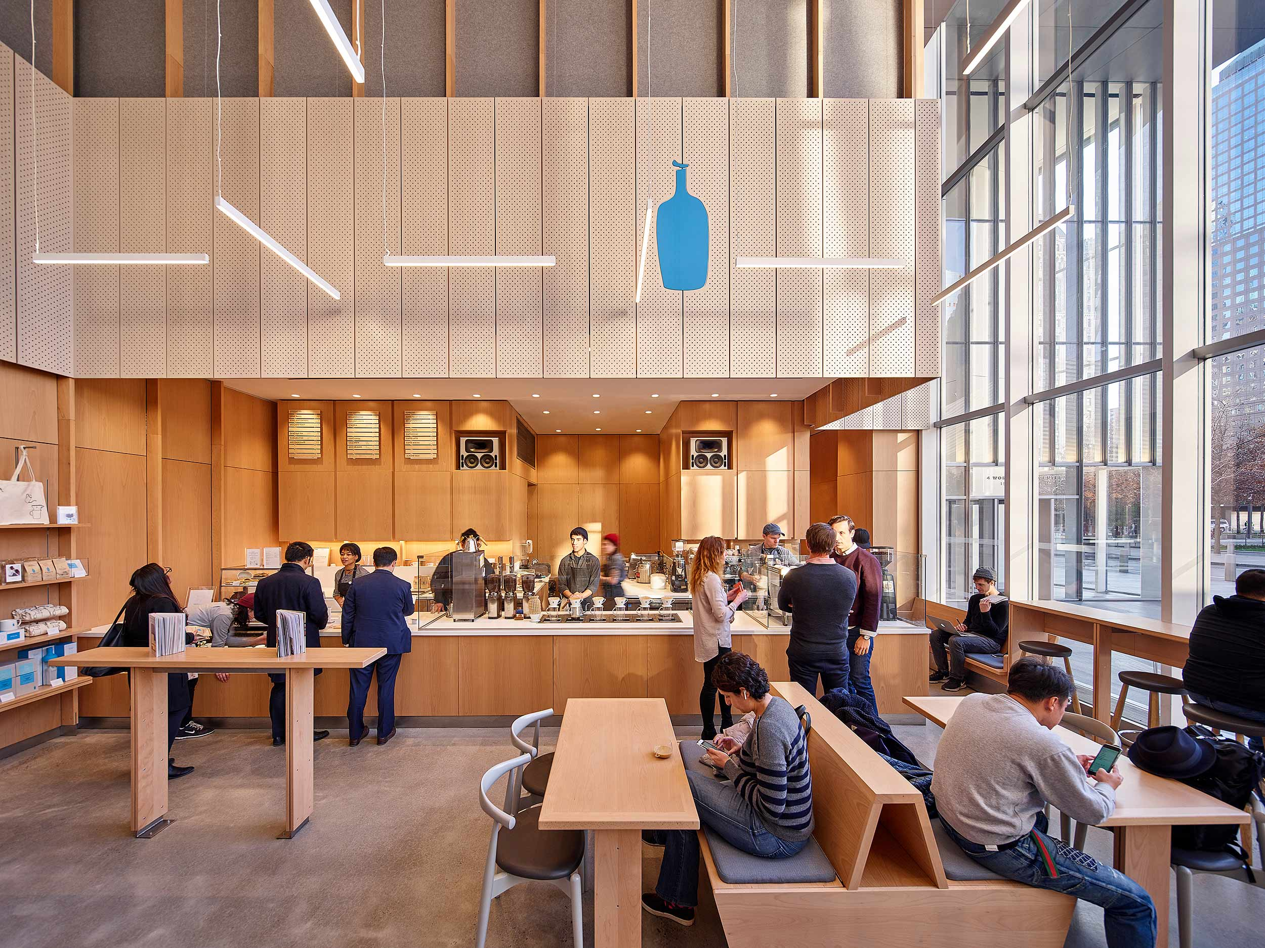 Blue Bottle Coffee, World Trade Center Bohlin Cywinski Jackson New York, NY See More in  Retail