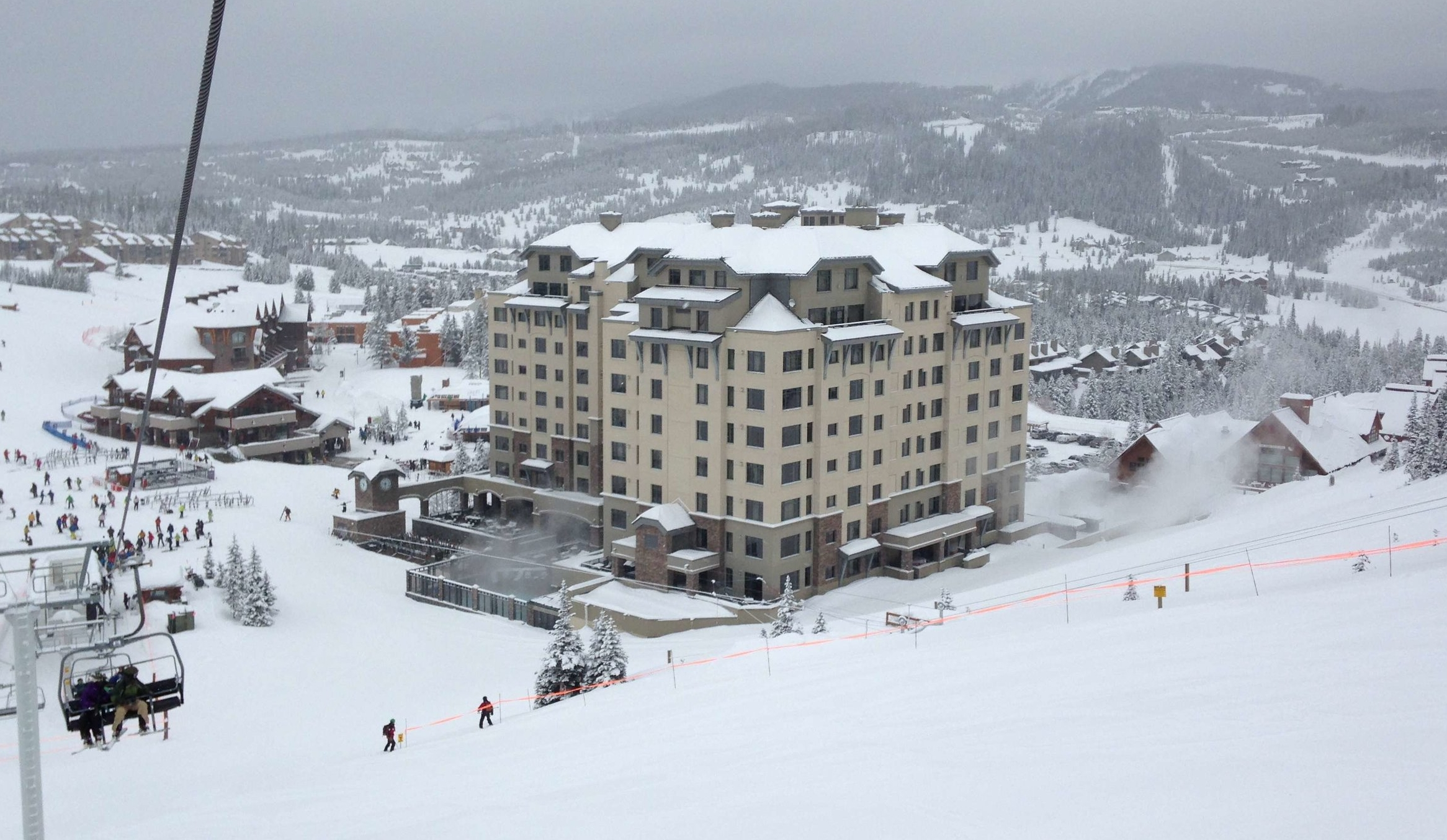 View of Mountain Village and the Summit Hotel from Ski Lift
