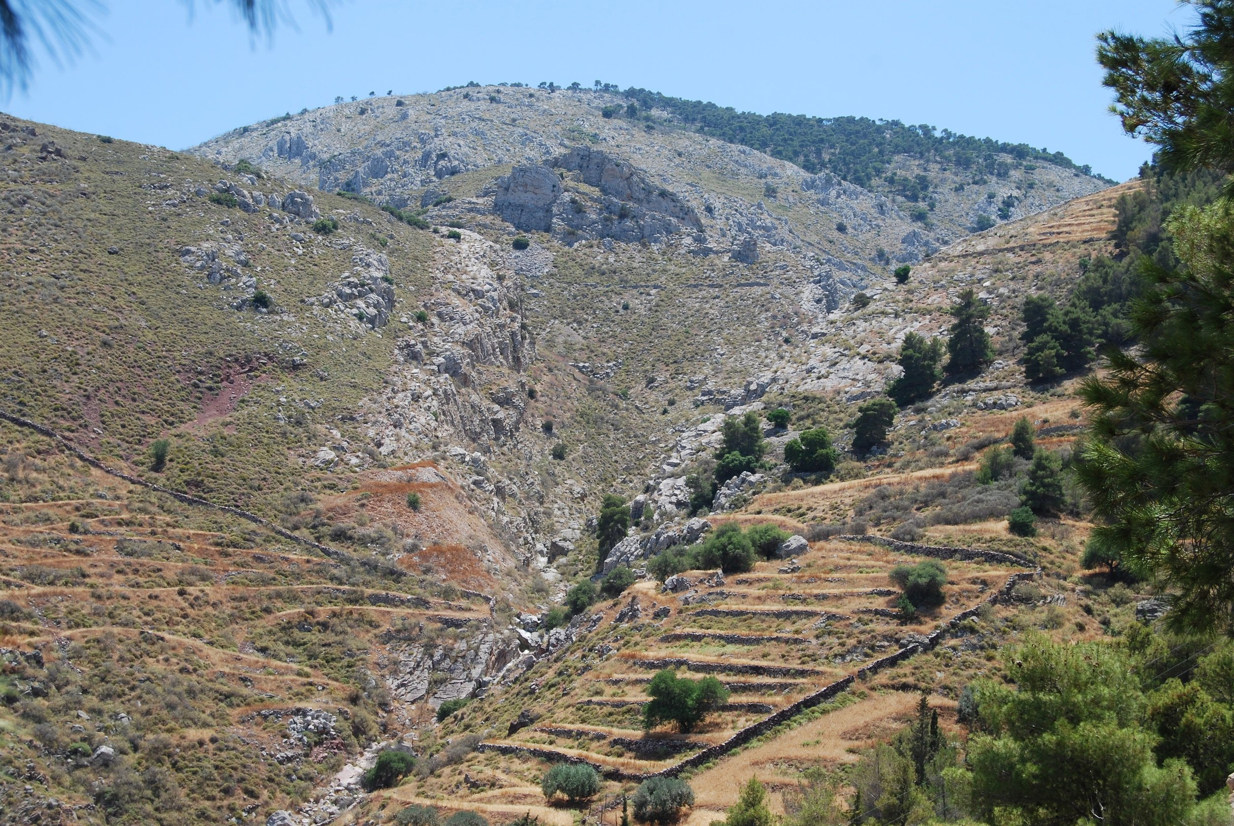 If you like hiking uphill, there are lots of options on Hydra.