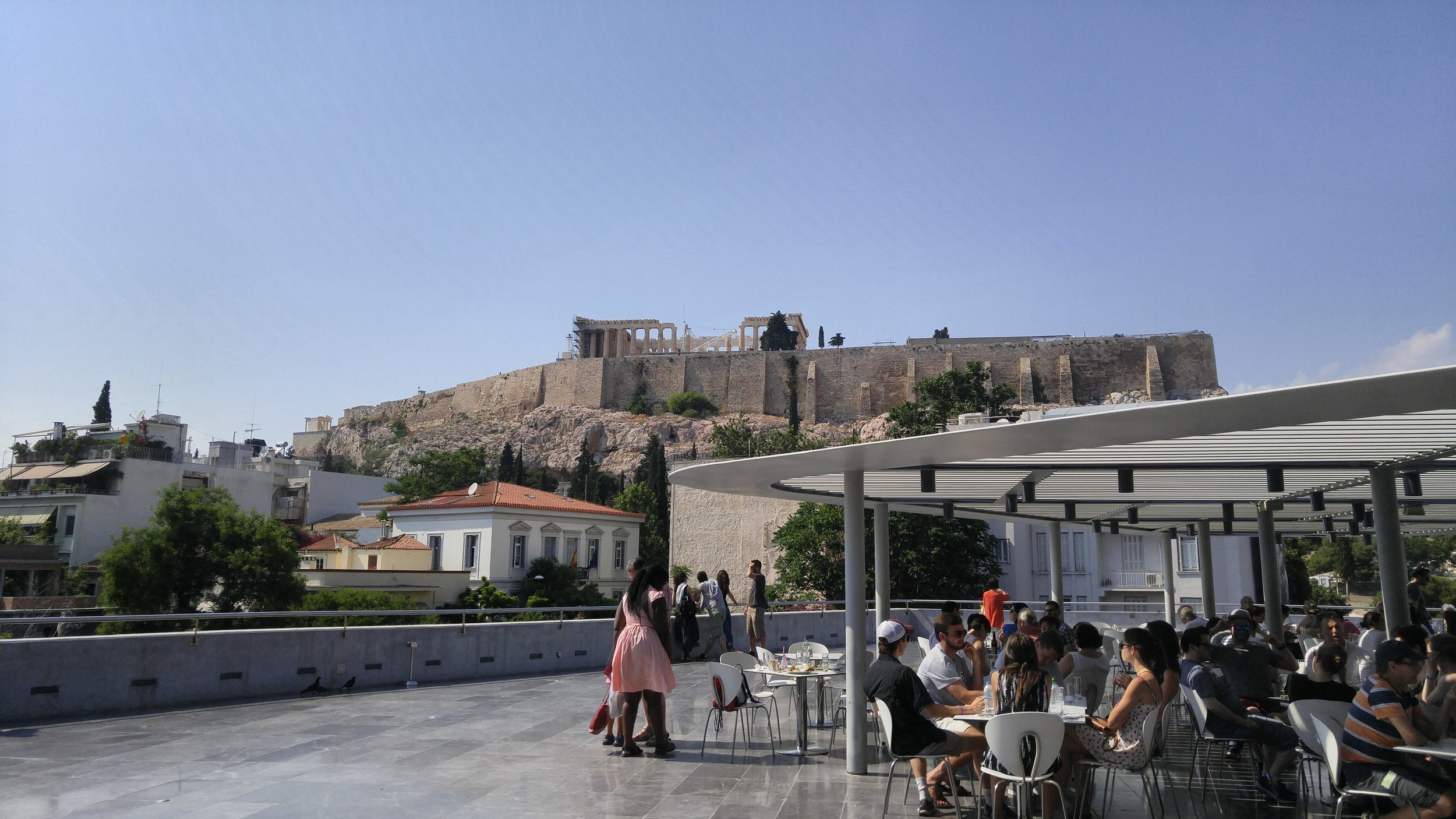 View from cafe at the Acropolis Museum