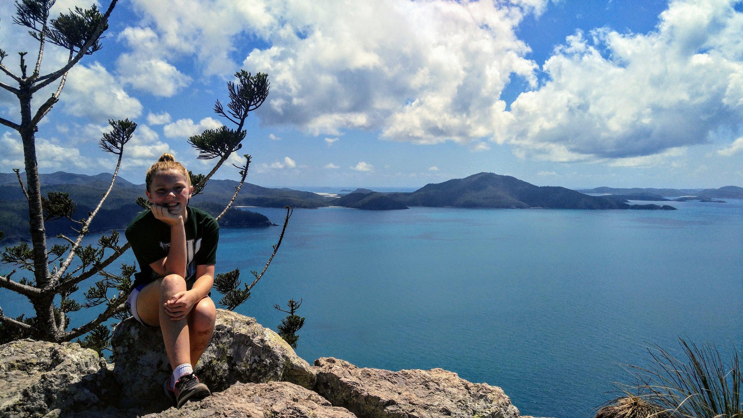 My niece enjoying the view from Passage Peak