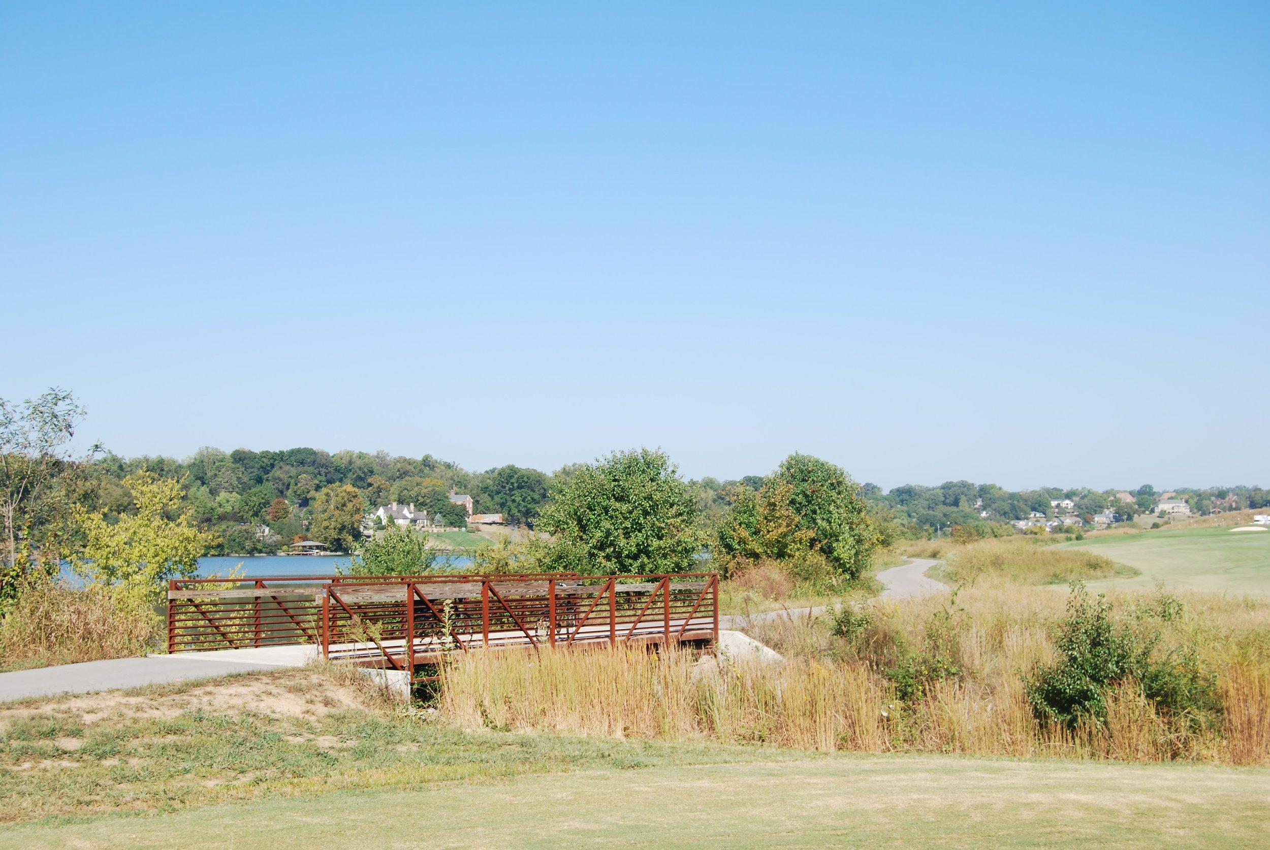 Pretty bridge on the Knox Blount Greenway