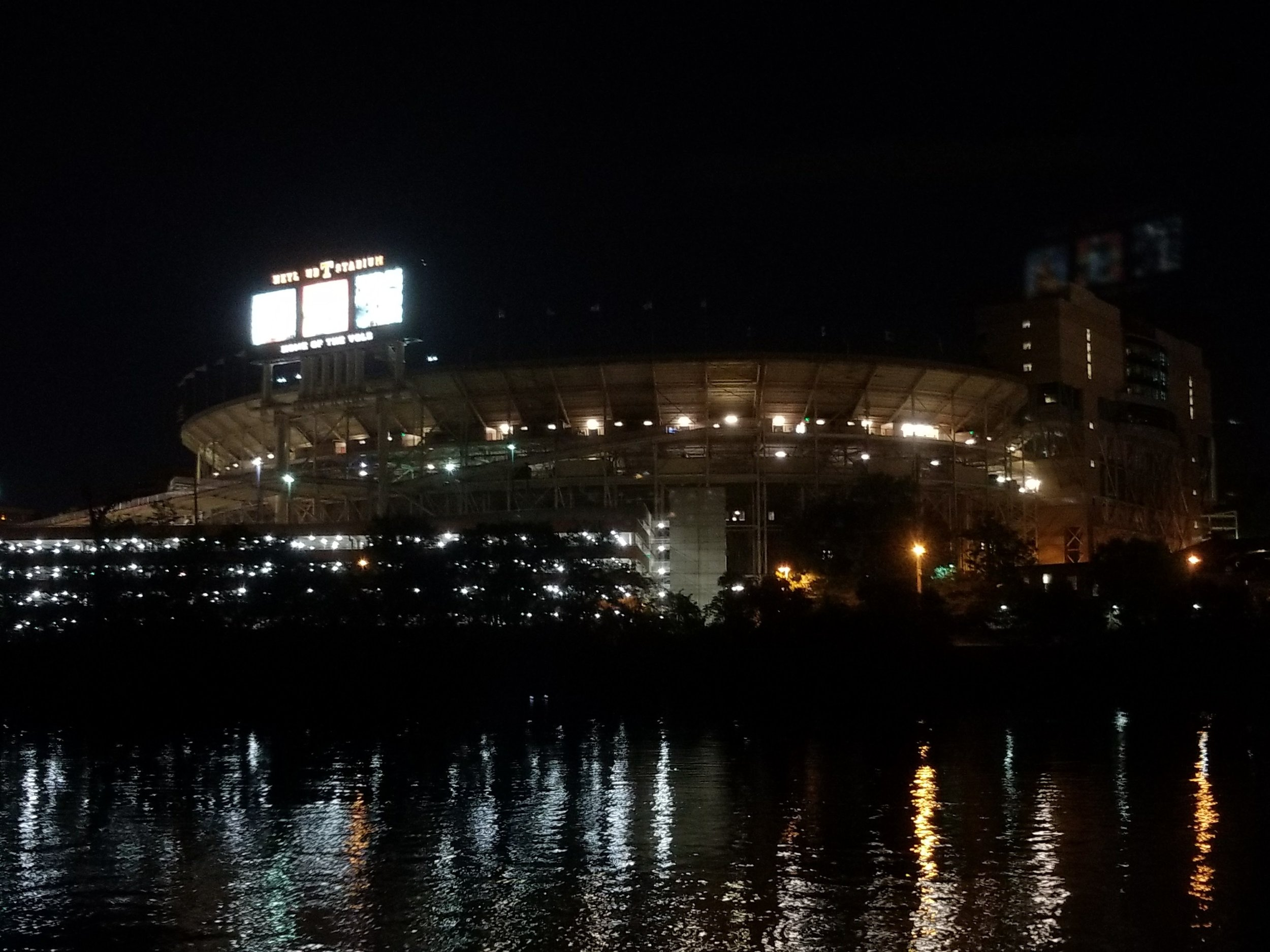 paddling past Neyland Stadium