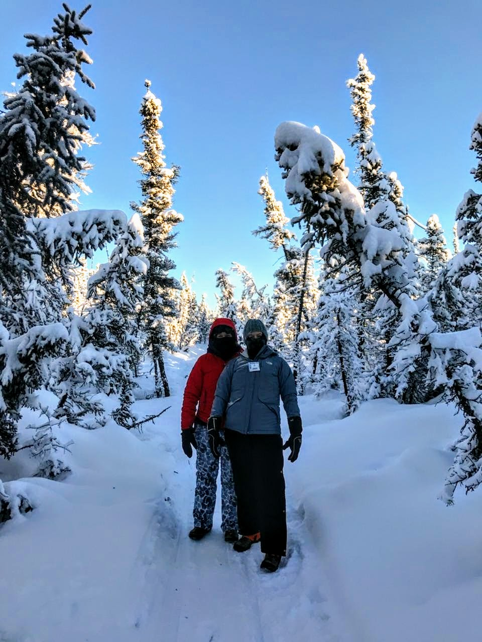 No problem hiking on groomed trails