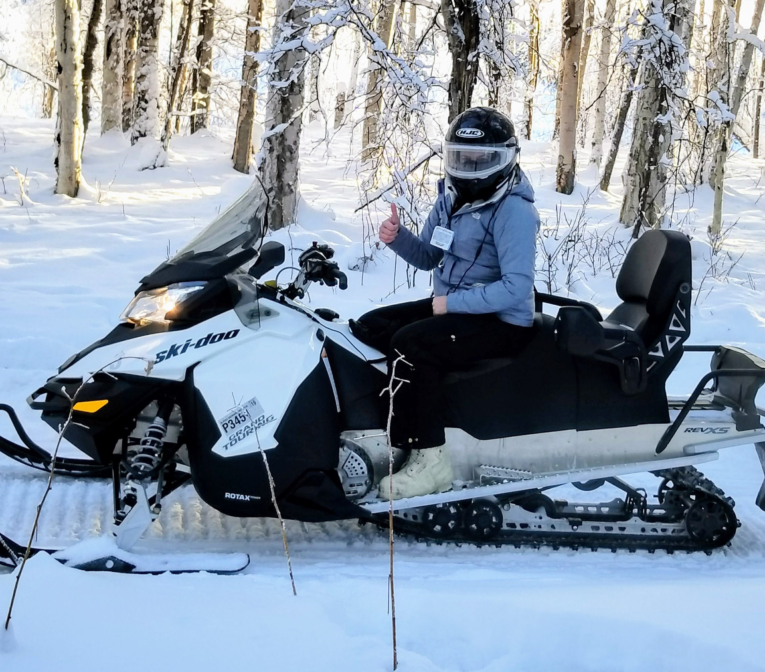 """All decked out with heated helmet and defrosted visor. Notice the white """"bunny boots."""" Can't say enough about how warm these kept my feet. And before you go thinking I am totally crazy, I am wearing gloves. I just took them off to get the phone out."""