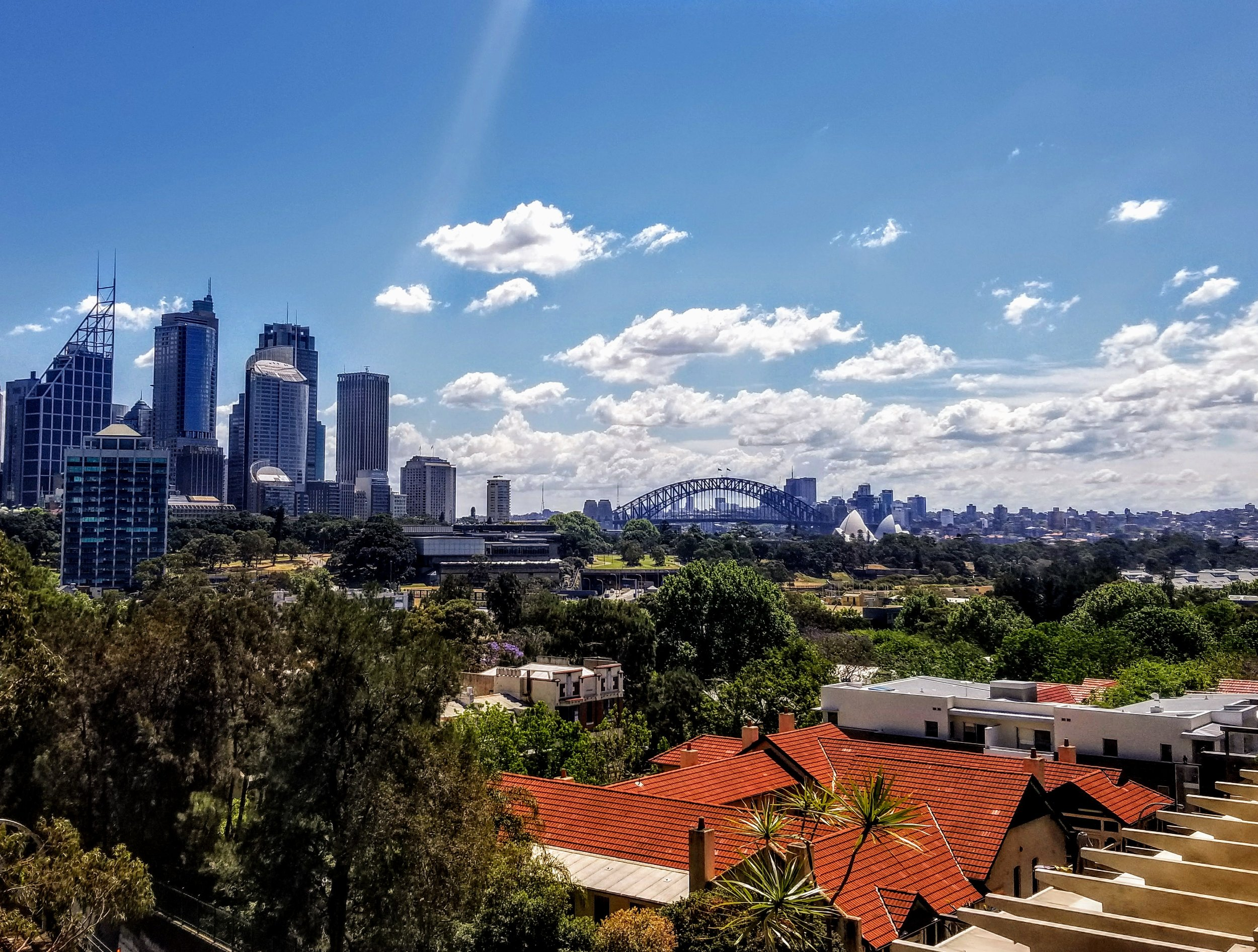 View from the huge deck of our Sydney Airbnb. One of my best finds ever.