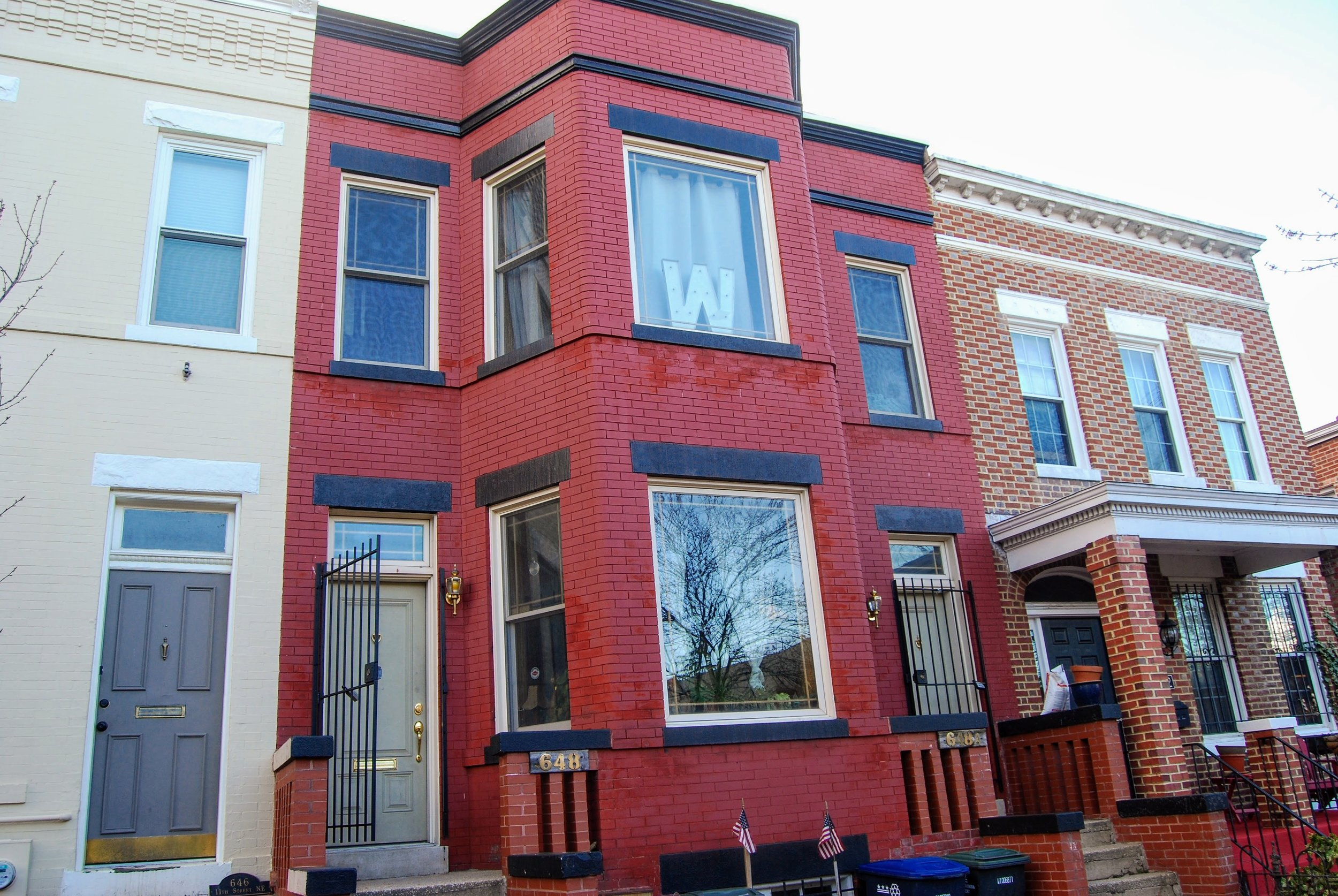 Our great Airbnb on Capitol Hill in D.C. After some research, we decided to pay extra to stay on Capitol Hill because we were able to walk to most places and not have to rent car.