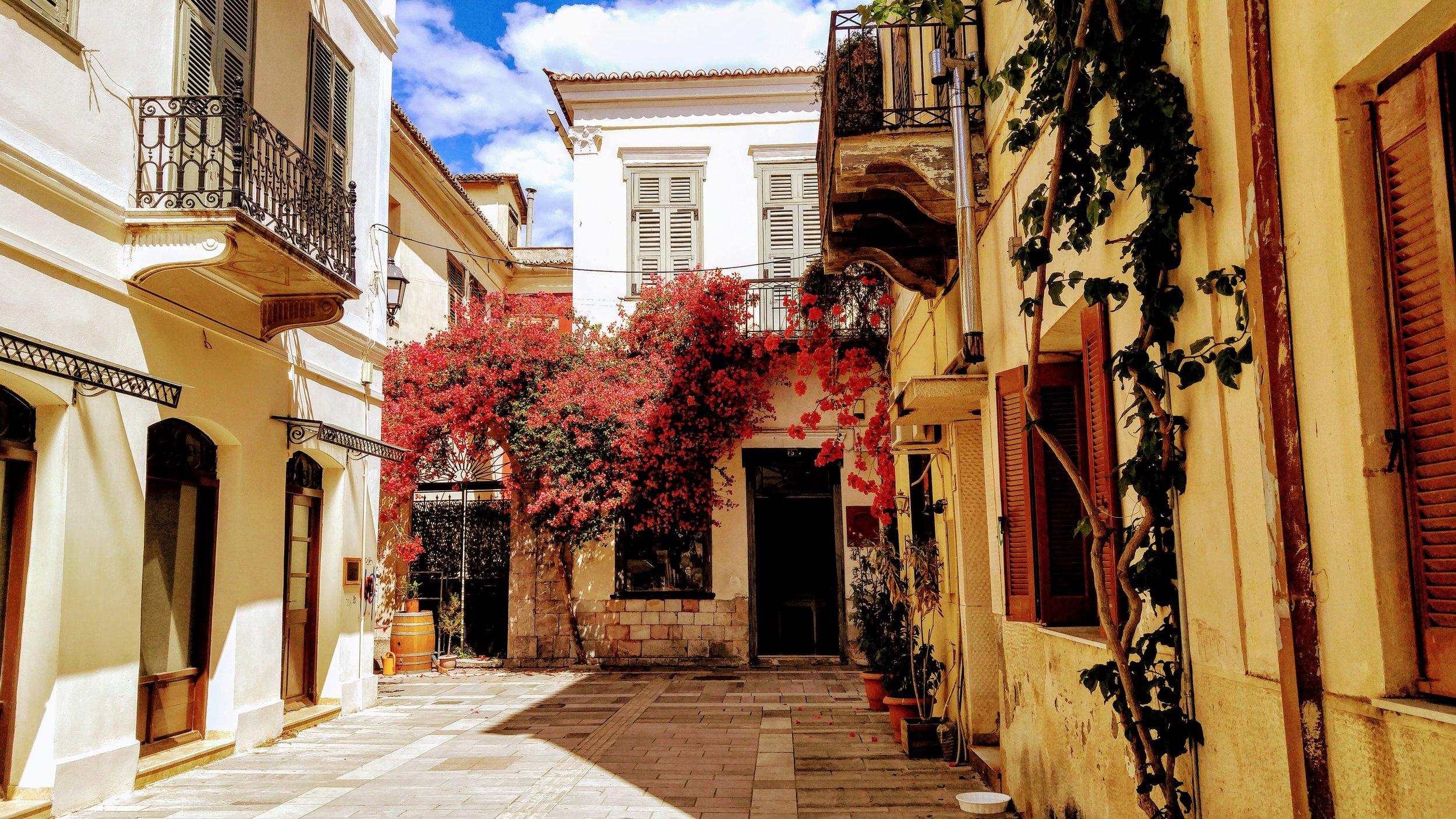 Beautiful streets of Nafplio