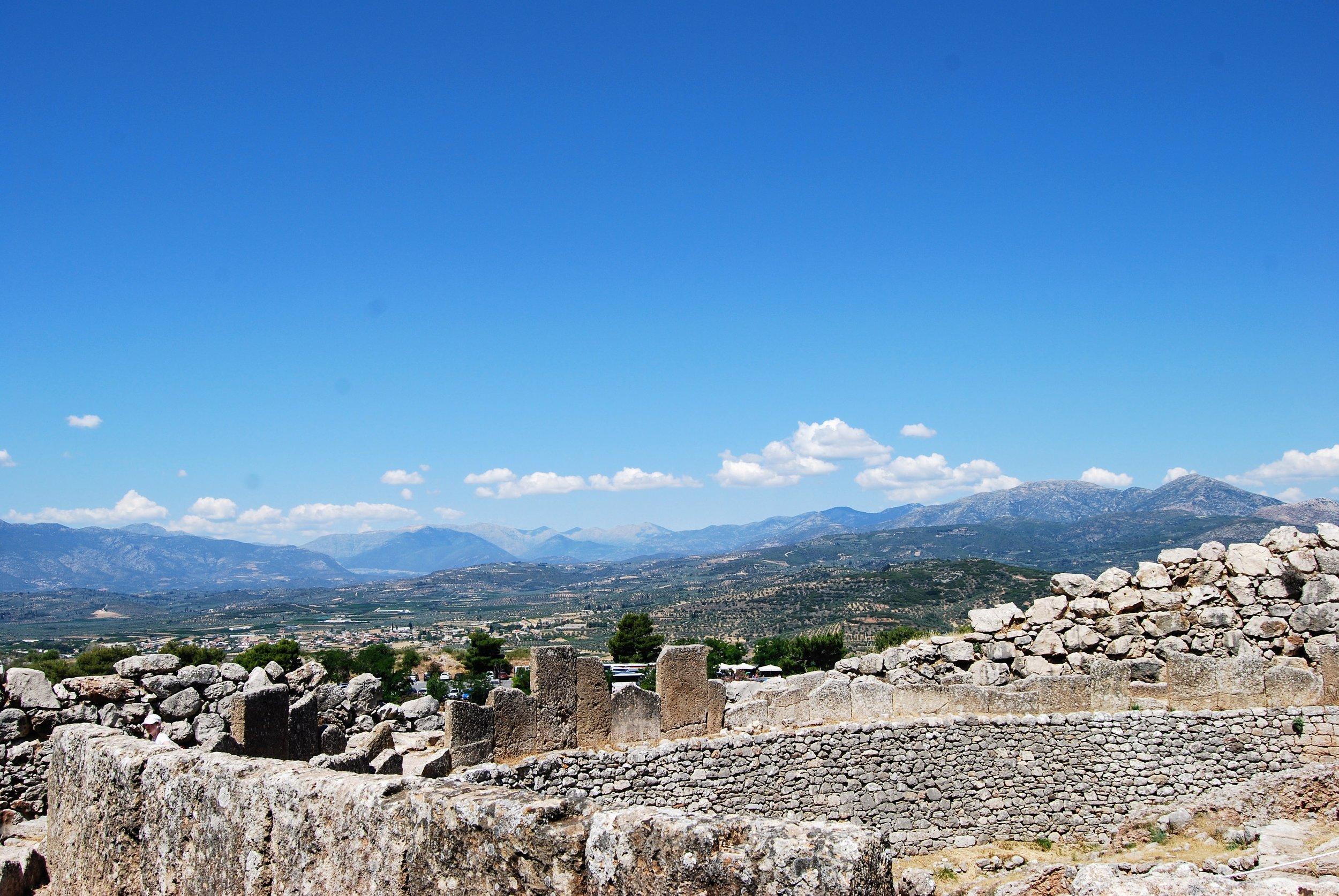 Ancient ruins at Mycenae