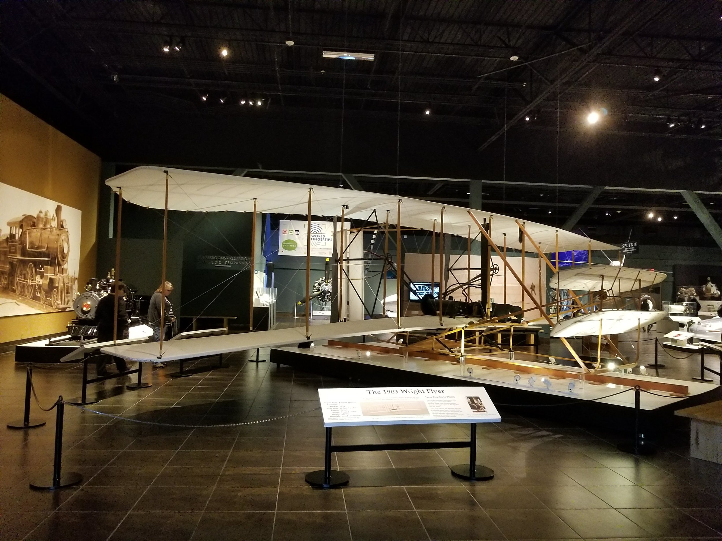 Wright Flyer, complete with model pilot.