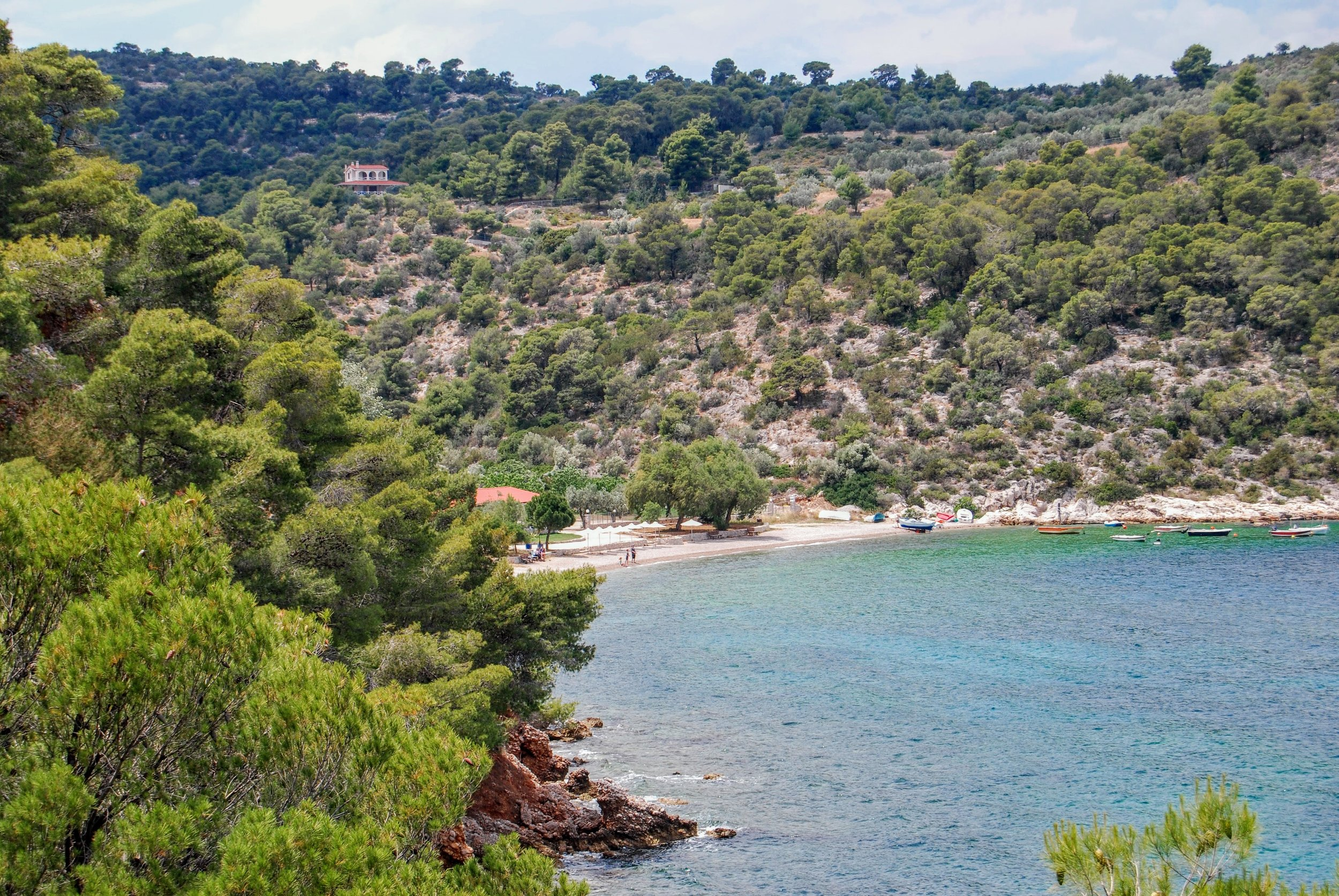 An idyllic, quiet beach in the village of Siderona. Has a fabulous fish taverna next to it as well.