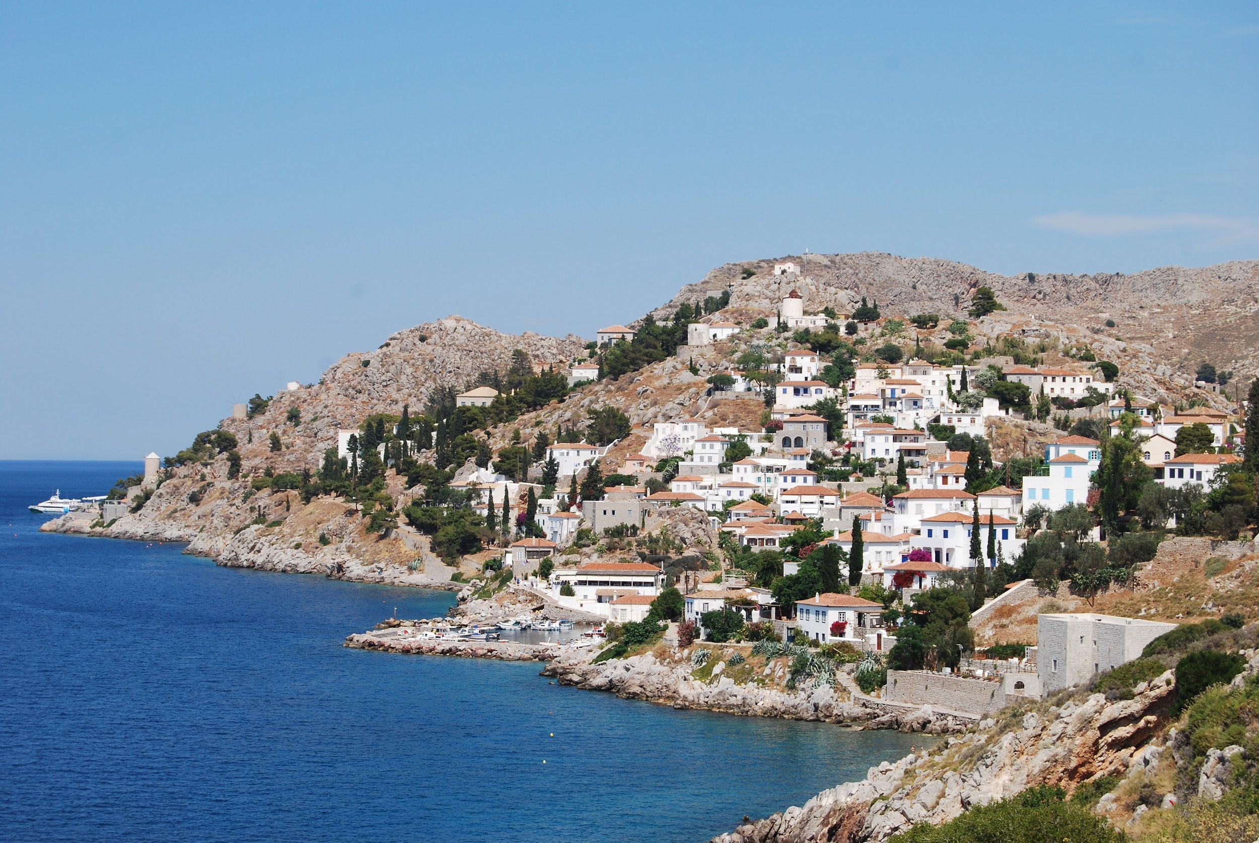 Hydra. There are no cars on this island so it is a walker's paradise.