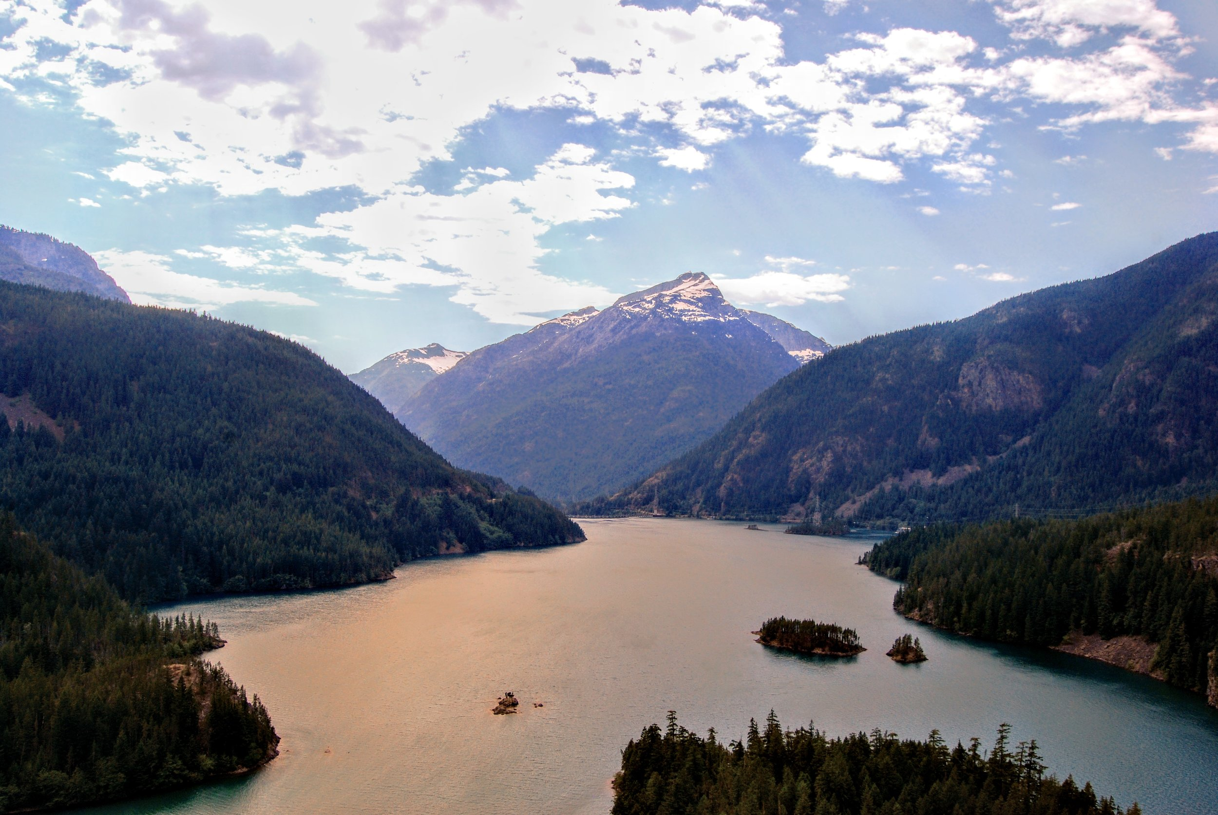 Diablo Lake in the late afternoon