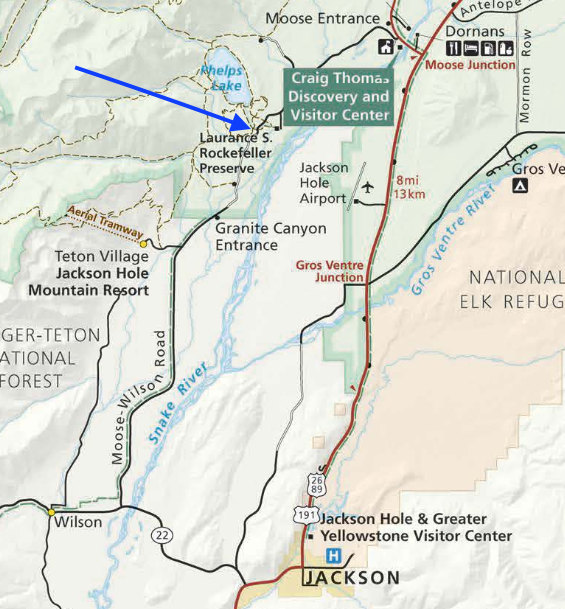 Full map can be found at the  NPS website .