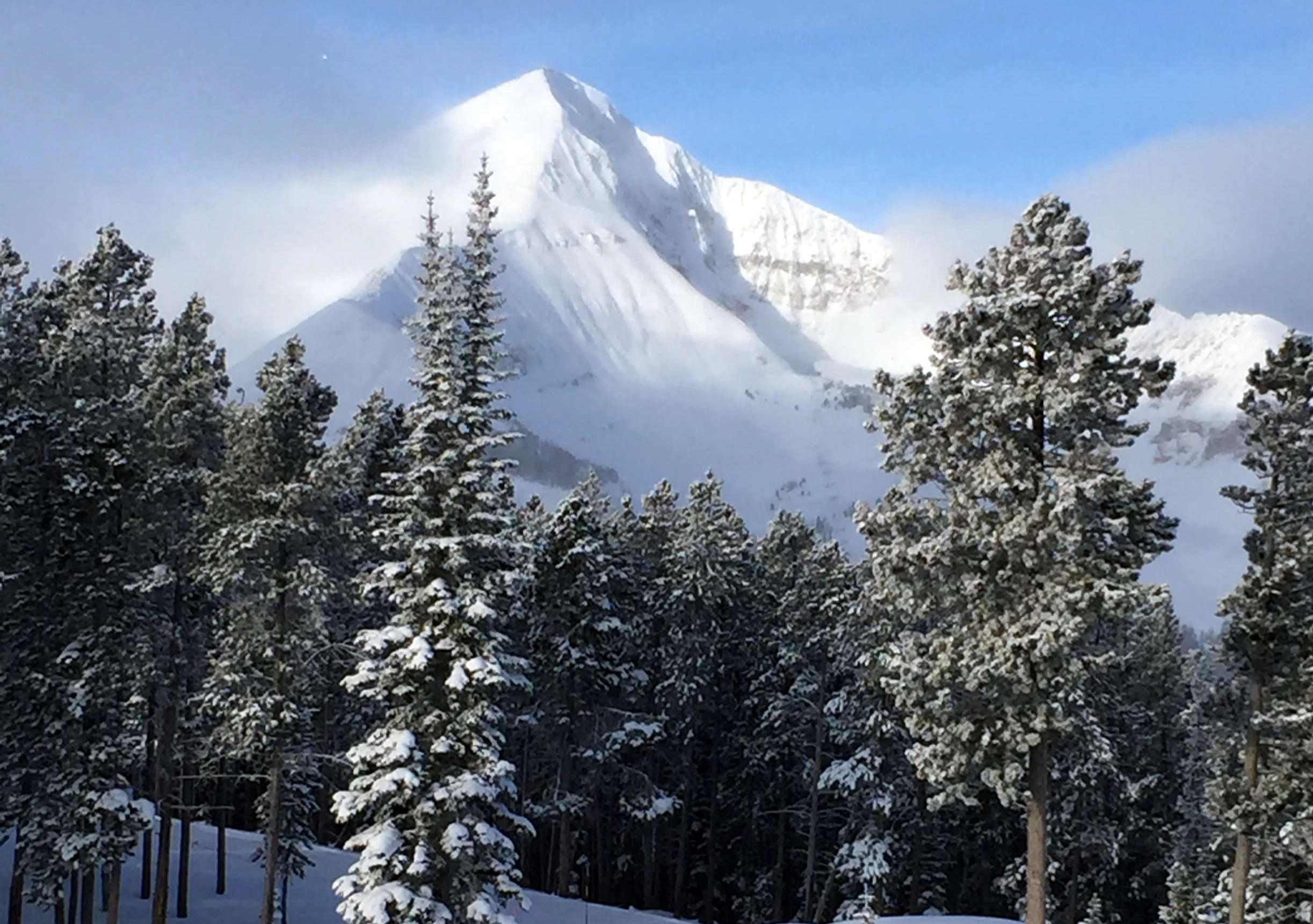Snowy Lone Peak