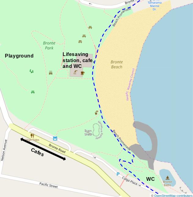 Map of Bronte Beach