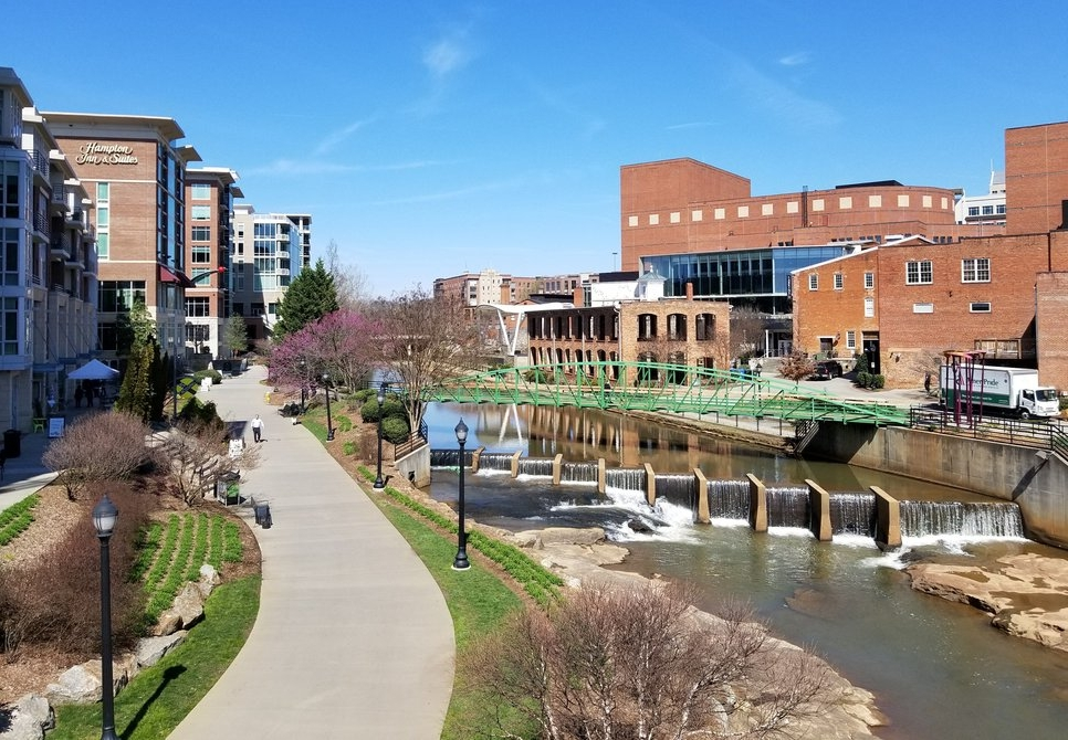 Riverfront in Downtown Greenville