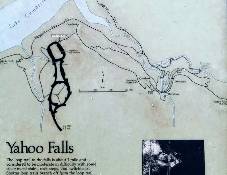 """The trailhead map. We never saw the """"primitive restrooms."""" Maybe they are so primitive that we just thought they were bushes."""