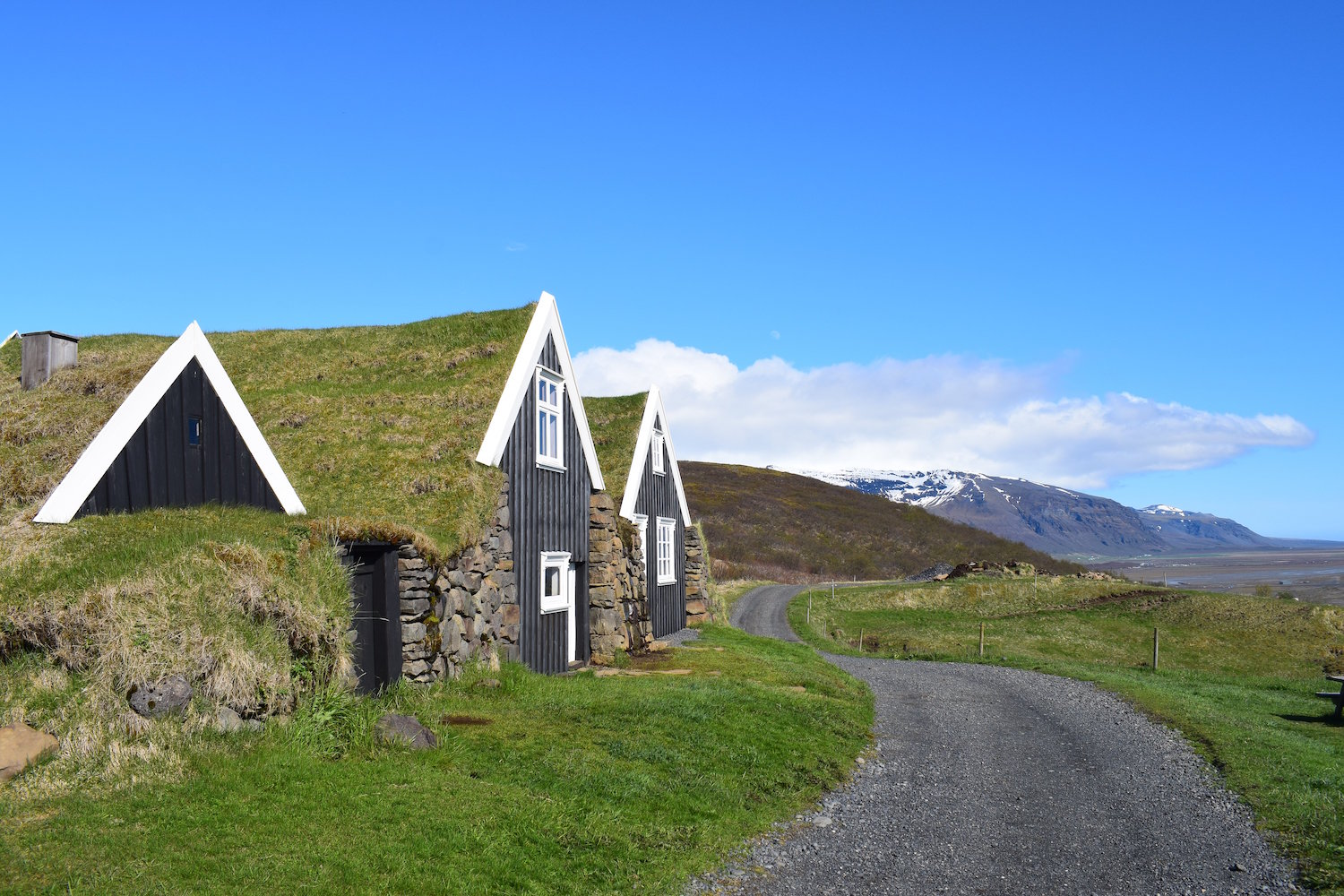 Turf-roofed houses at Sel