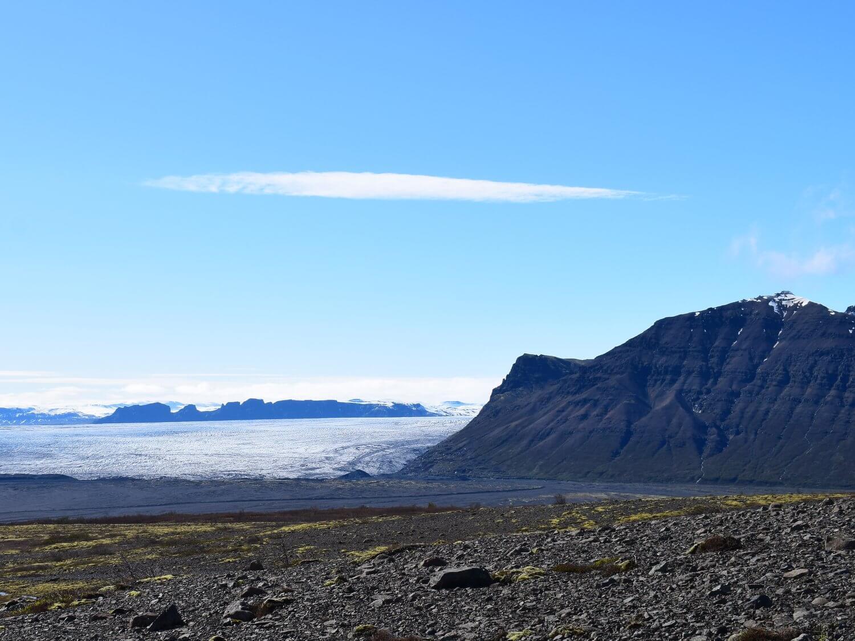 View of glacier from Sjónarsker