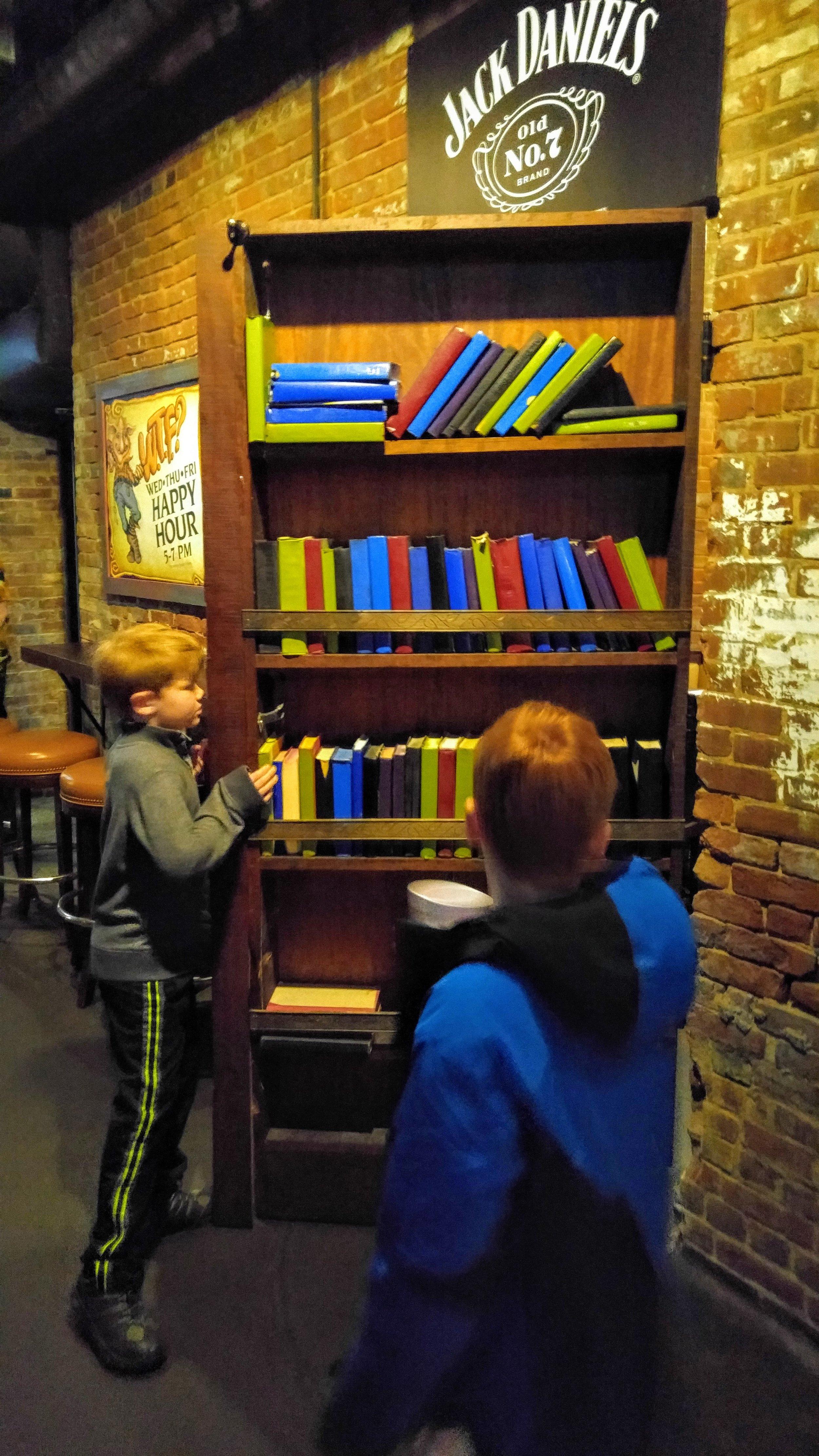 Secret door in the Troll Pub