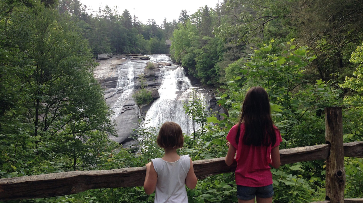 High Falls in Dupont State Forest near Brevard