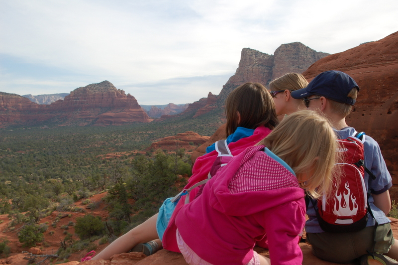 Enjoying the view from a perch on Bell Rock in Sedona