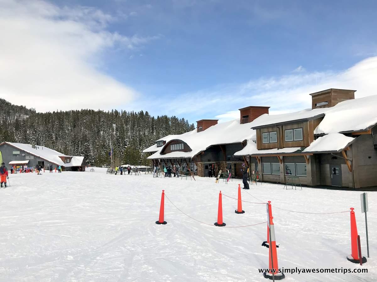 Saddle Peak Lodge with Jim Bridger Lodge in the background