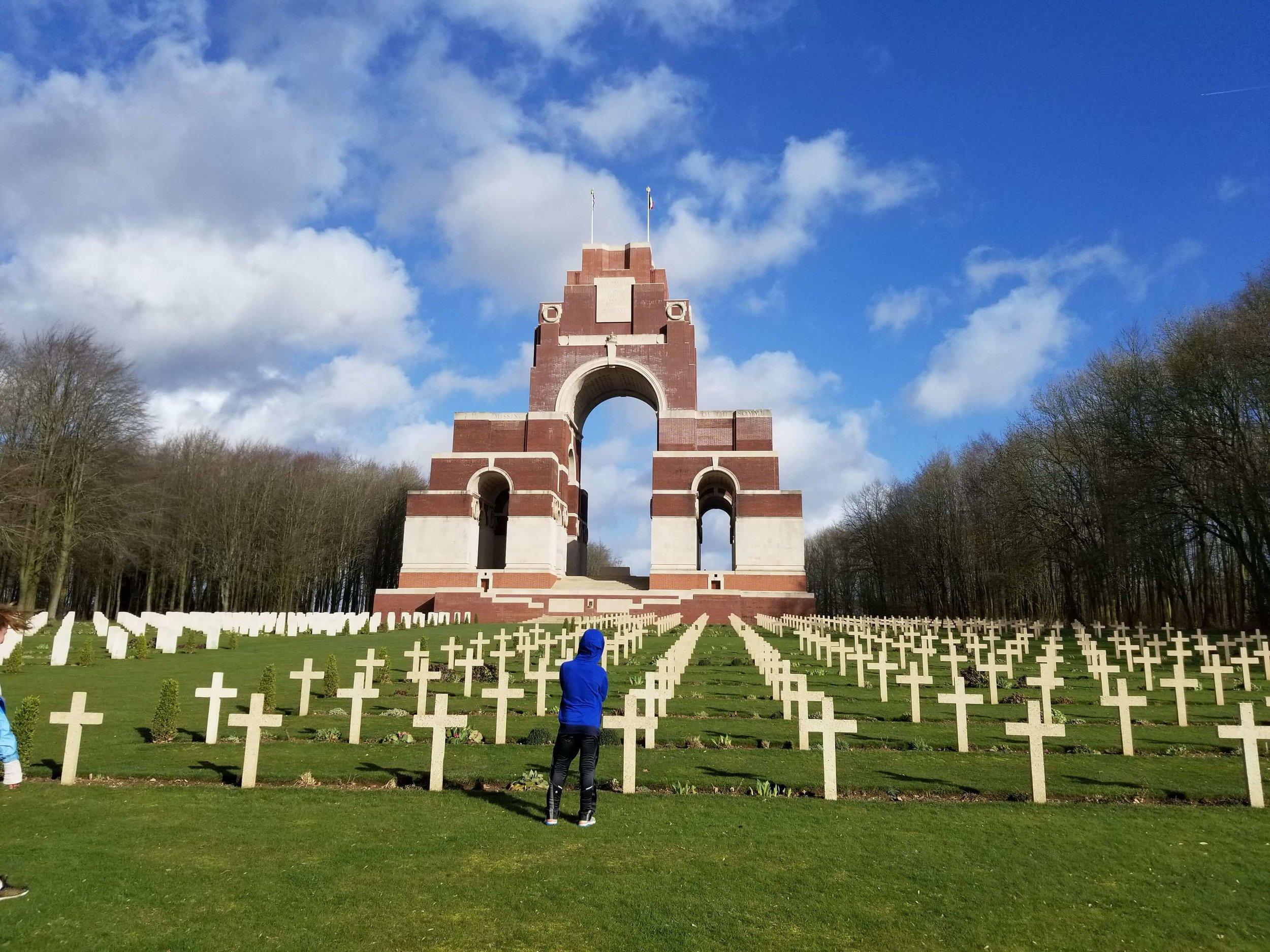 The Memorial to the Missing in Thiepval, France, commemorating those that died in the Battle of the Somme in World War 1.