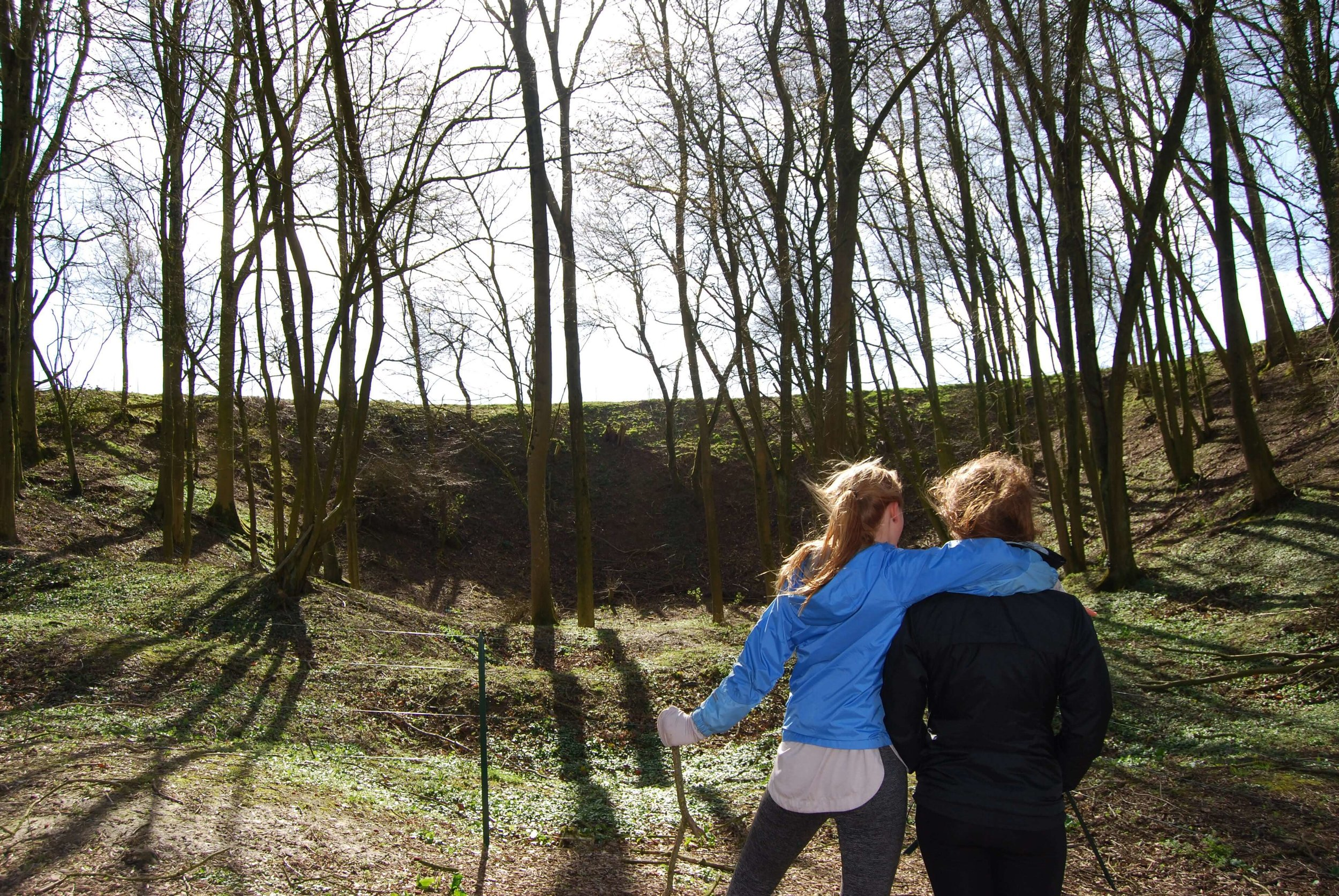 Standing inside Hawthorn Crater